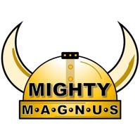 Mighty Magnus logo of the viking horns