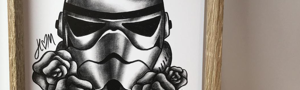 A5 Star Wars print - Stormtrooper and Flowers