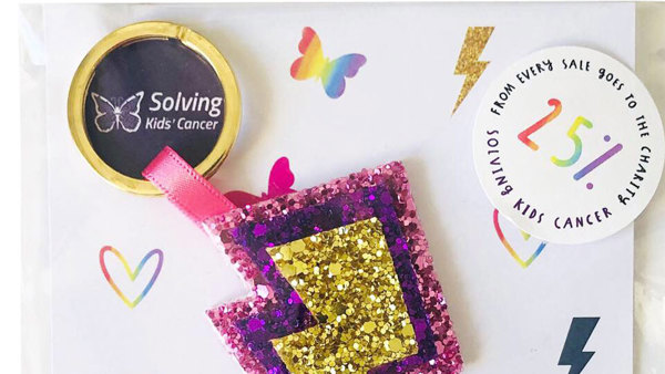 New sparkly partnership for Solving Kids' Cancer