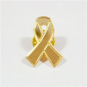 Solving Kids' Cancer Gold Ribbon Badge