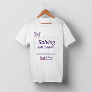 Solving Kids' Cancer Maze t-shirt