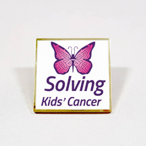 Solving Kids' Cancer Pin badge