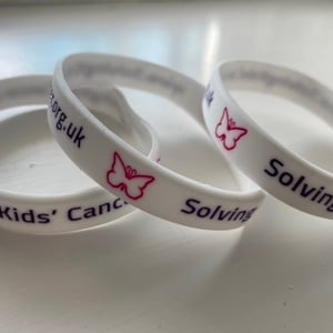 Solving Kids' Cancer wristband